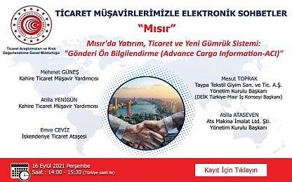 TİCARET MÜŞAVİRLERİMİZLE ELEKTRONİK  SOHBETLER-